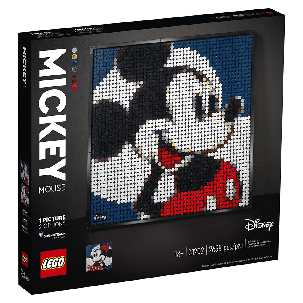 LEGO® Disney Mickey Mouse Portrait Building Set 31202