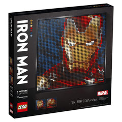 LEGO® Marvel Studios Iron Man Portrait Building Set 31199
