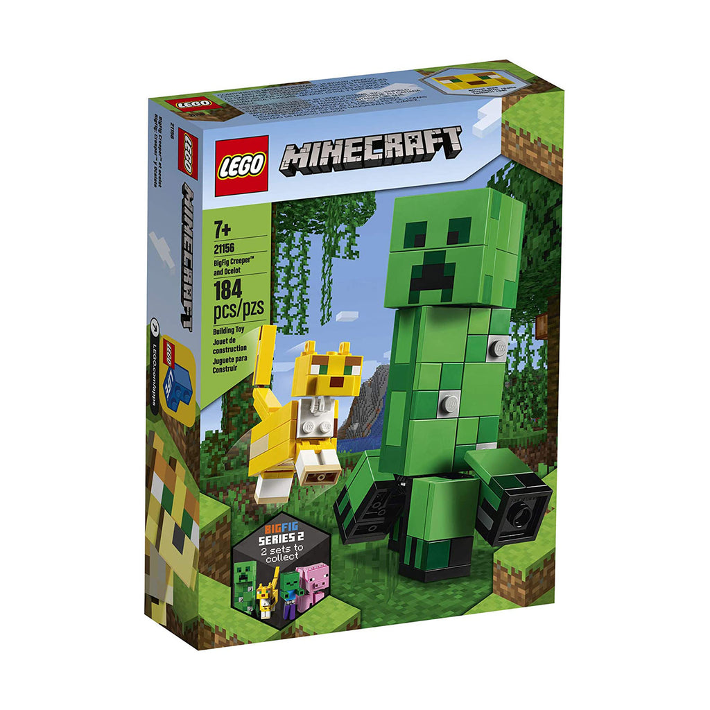 LEGO® Minecraft BigFig Creeper And Ocelot Building Set 21156