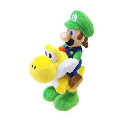 Little Buddy Luigi Riding Yoshi 8 Inch Plush Figure