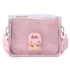 Loungefly Barbie Rose Gold Clear Crossbody Bag Purse