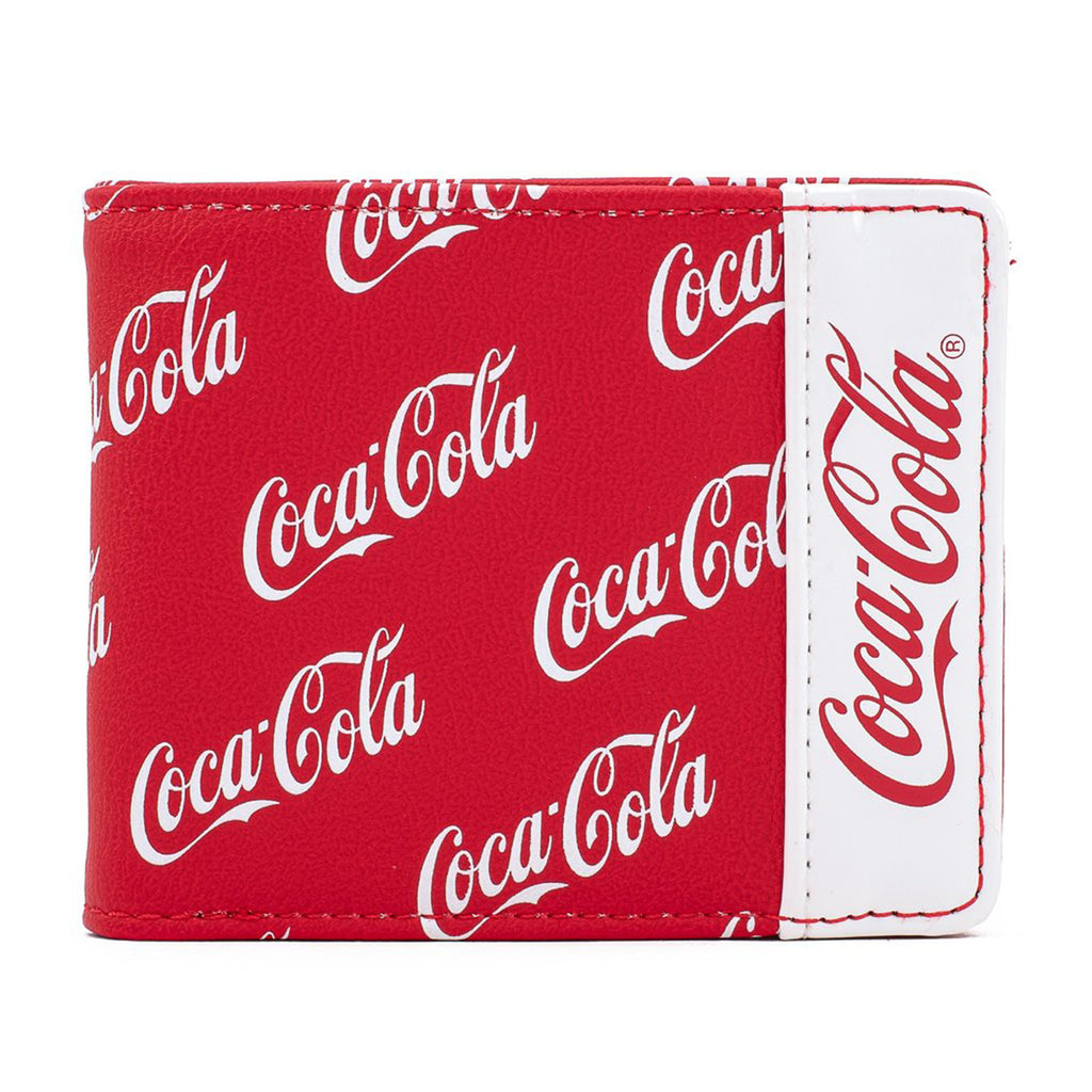 Loungefly Coca Cola Logo All Over Print Bifold Wallet