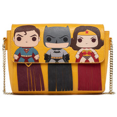Loungefly DC Comics Superman Batman Wonder Woman POP Crossbody Bag Purse
