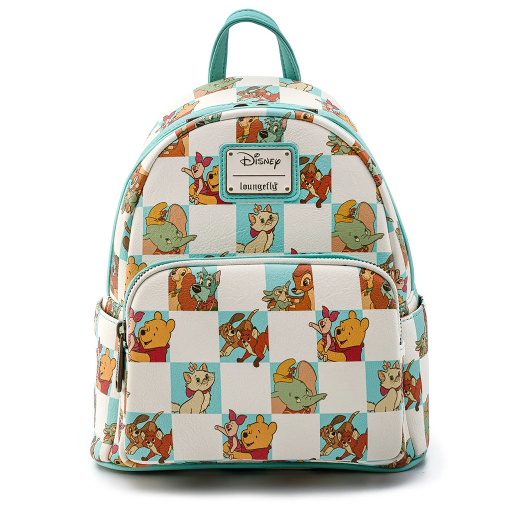 Loungefly Disney Checkered Characters Mint Mini Backpack