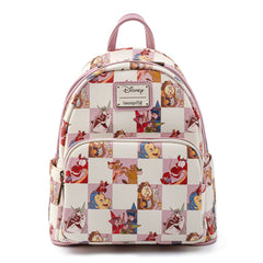 Loungefly Disney Checkered Characters Rose Mini Backpack