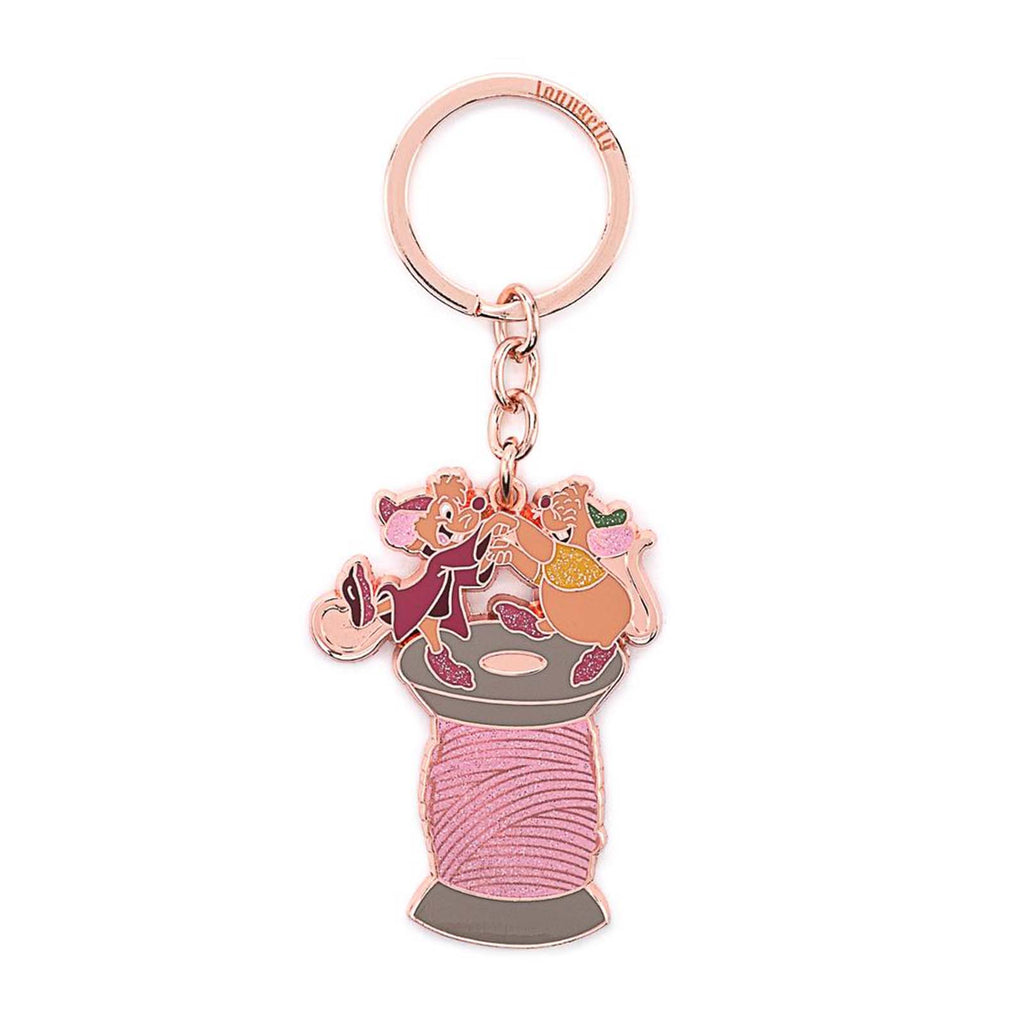 Loungefly Disney Cinderella Jaq And Gus Spool 2.5 Enamel Keychain