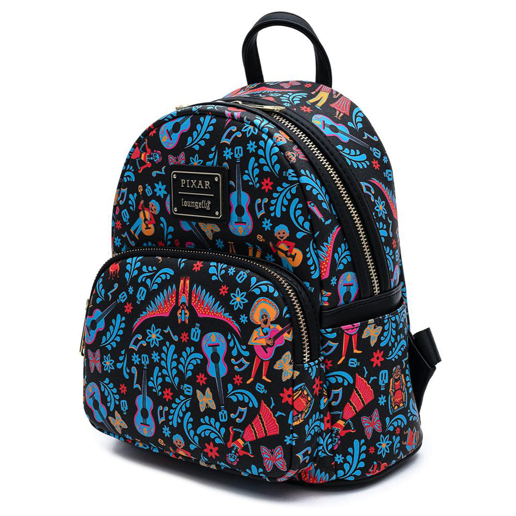 Loungefly Disney Coco Dia De Los Muertos All Over Print Mini Backpack