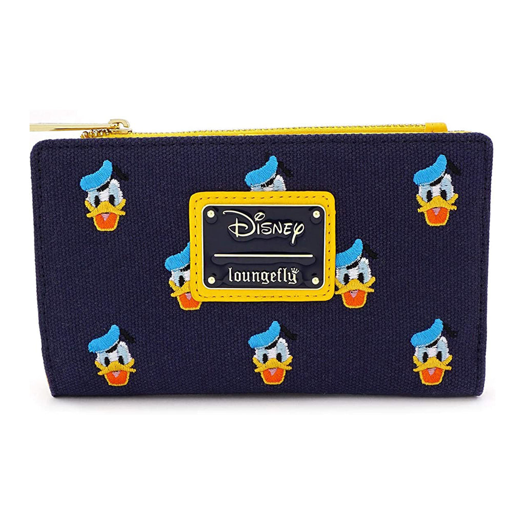 Loungefly Disney Donald Duck All Over Print Top Zip Wallet