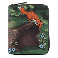 Loungefly Disney Fox And The Hound Copper Tod Zip Around Wallet
