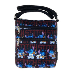 Loungefly Disney Lilo And Stitch Elvis All Over Print Nylon Passport Bag Purse