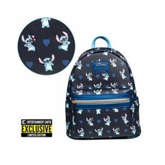 Loungefly Disney Lilo And Stitch Hearts EE Exclusive Mini Backpack