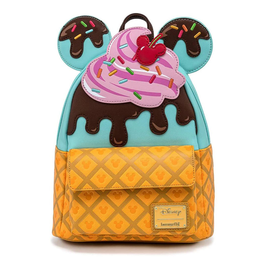 Loungefly Disney Mickie And Minnie Sweets Ice Cream Mini Backpack