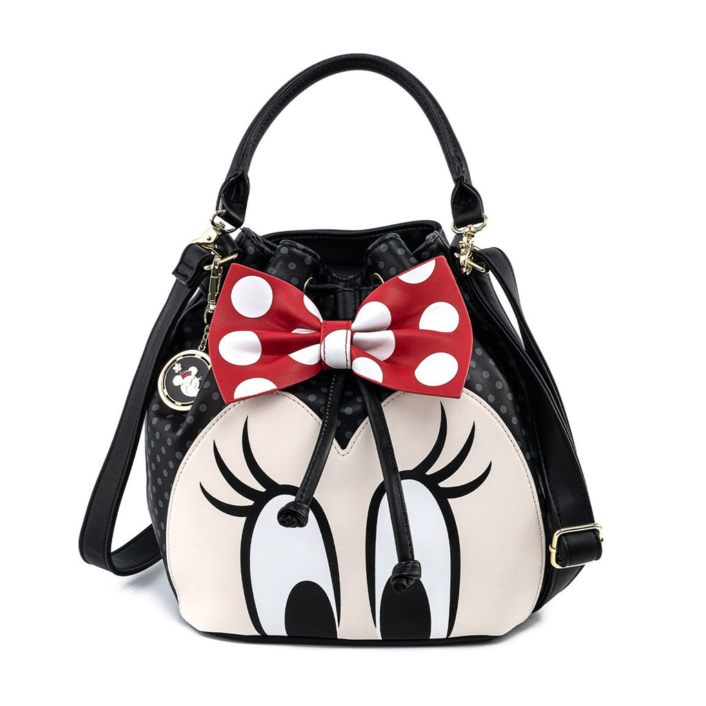 Loungefly Disney Minnie Mouse Bow Bucket Bag Purse