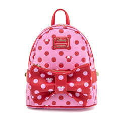 Loungefly Disney Minnie Mouse Dots With Bow Purse Mini Backpack