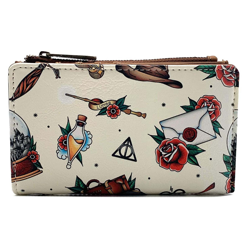 Loungefly Harry Potter Tattoo All Over Print Wallet