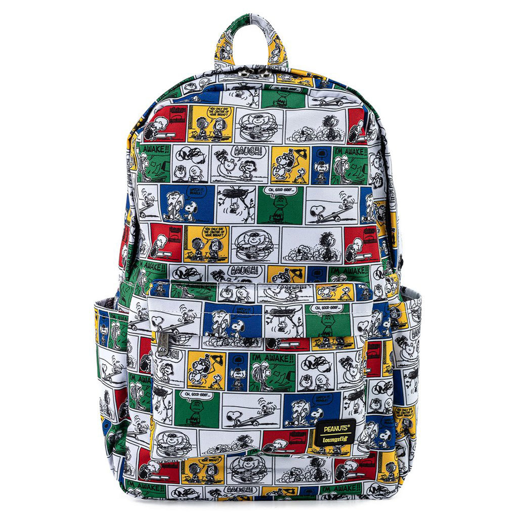 Loungefly Peanuts Comic Strip Nylon Backpack