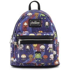 Purses - Loungefly Avengers Chibi All Over Print Mini Backpack