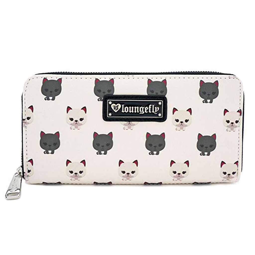 Loungefly Cat All Over Print Zip Around Wallet