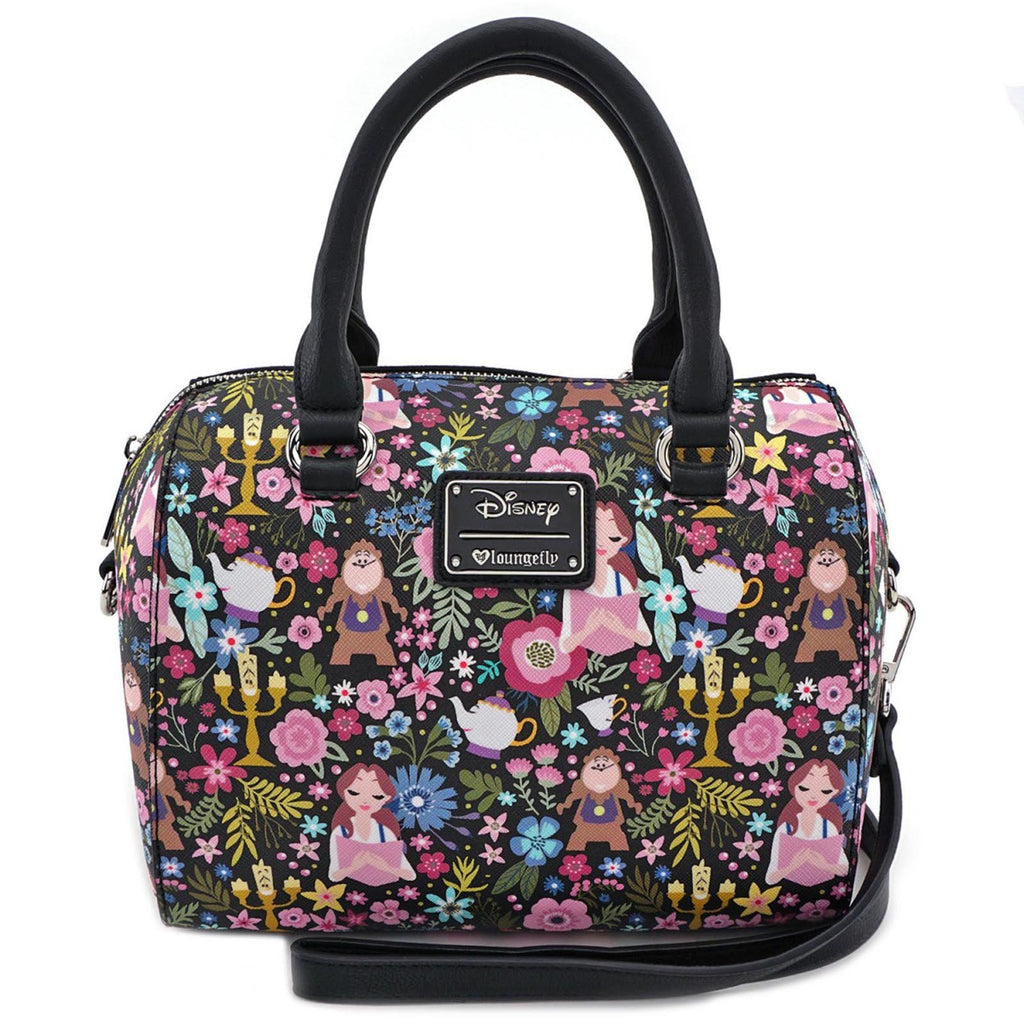 Loungefly Disney Beauty And The Beast Belle Floral Duffle Purse