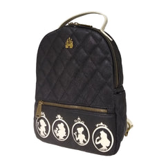 Loungefly Disney Black And White Princess Silhouette Mini Backpack