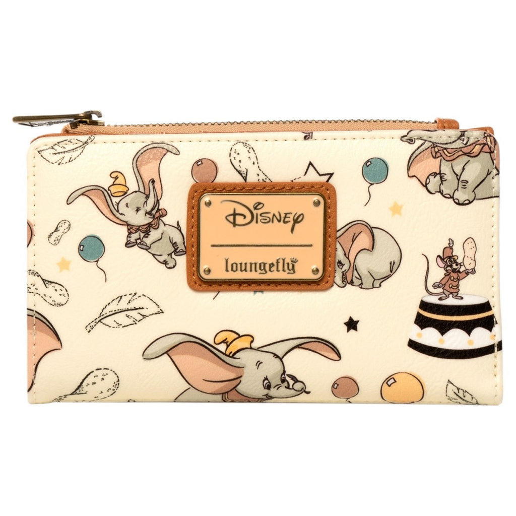 Loungefly Disney Dumbo Vintage All-Over Print Small Flap Wallet