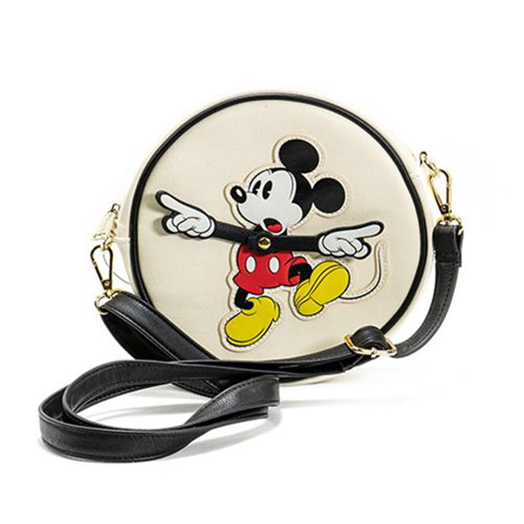Loungefly Disney Mickey Mouse Clock Arms Circle Crossbody Bag