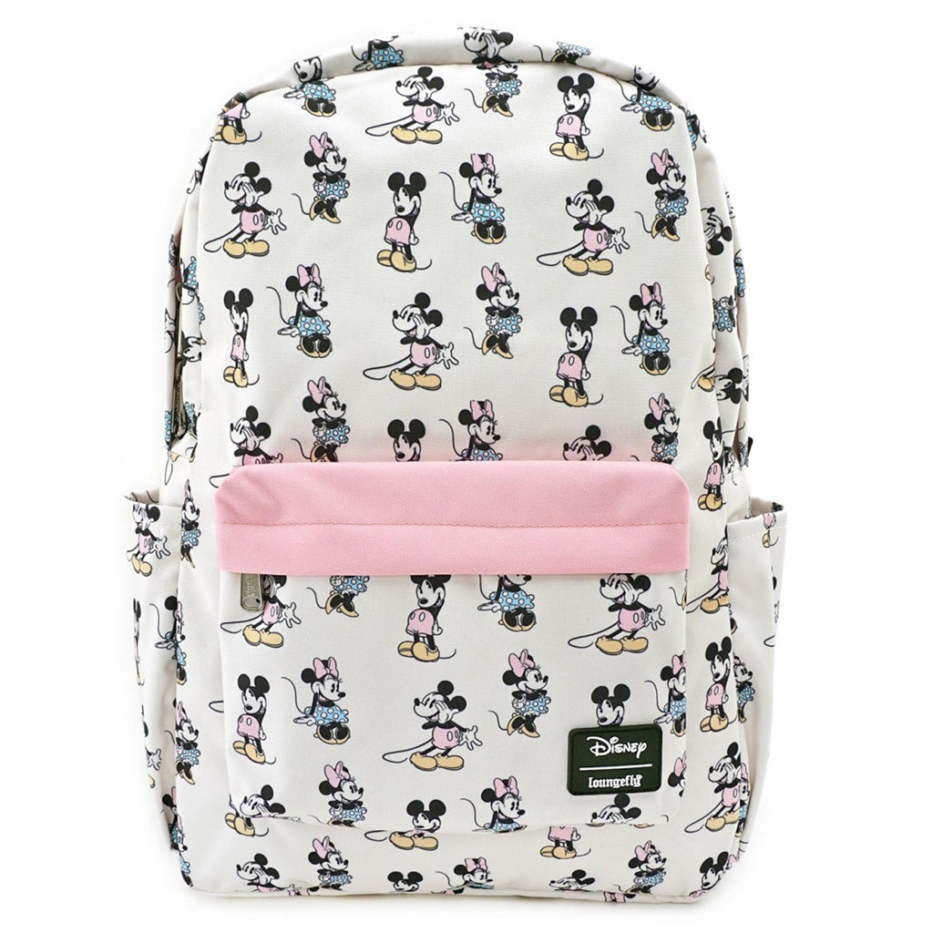 Loungefly Disney Minnie Mickey All Over Print Nylon Backpack