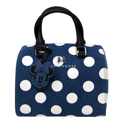 Loungefly Disney Minnie Mouse Denim Polka Dot Duffle Bag Purse