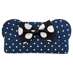 Loungefly Disney Minnie Mouse Denim Polka Dot Zip Around Wallet