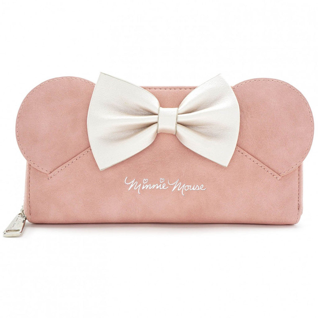 Loungefly Disney Minnie Mouse Ears Pink Zip Around Wallet