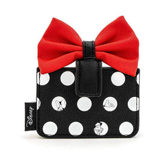 Loungefly Disney Minnie Mouse Polka Dot Big Red Bow Cardholder ID Wallet