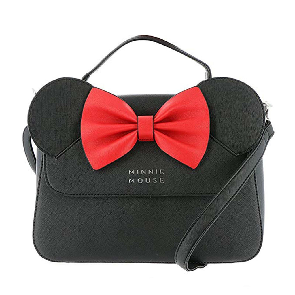 Loungefly Disney Minnie Mouse With Ears And Bow Crossbody Bag