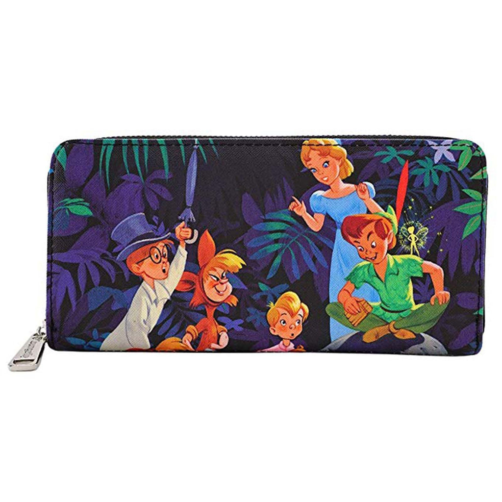 Loungefly Disney Peter Pan Scenes Zip Around Wallet