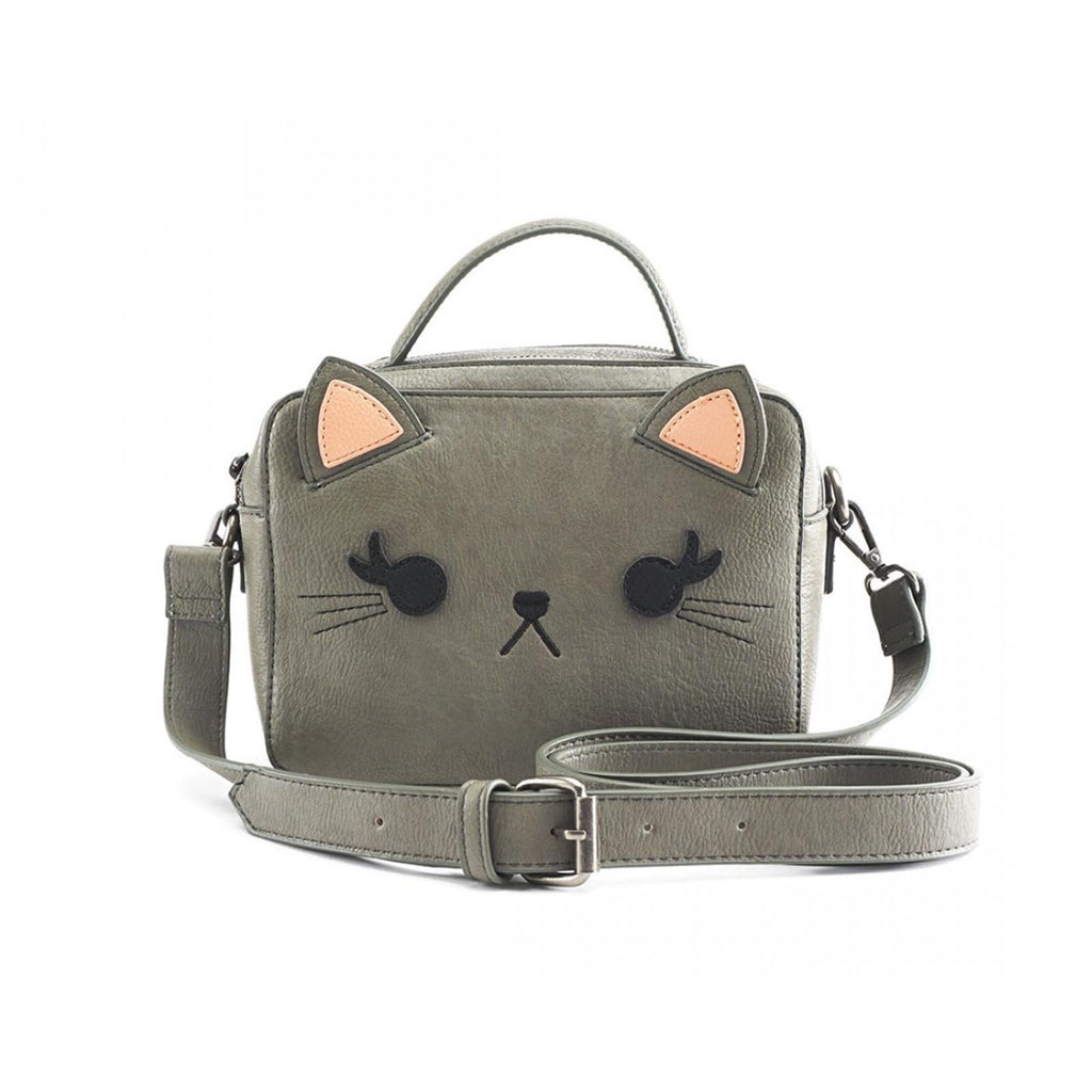 Loungefly Grey Cat Crossbody Bag Purse
