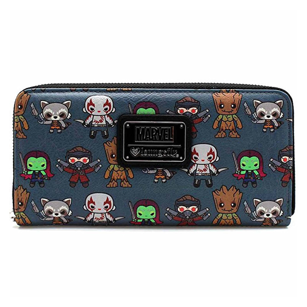 Loungefly Guardians Of The Galaxy Kawaii Print Zip Around Wallet