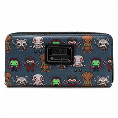 Wallets - Loungefly Guardians Of The Galaxy Kawaii Print Zip Around Wallet