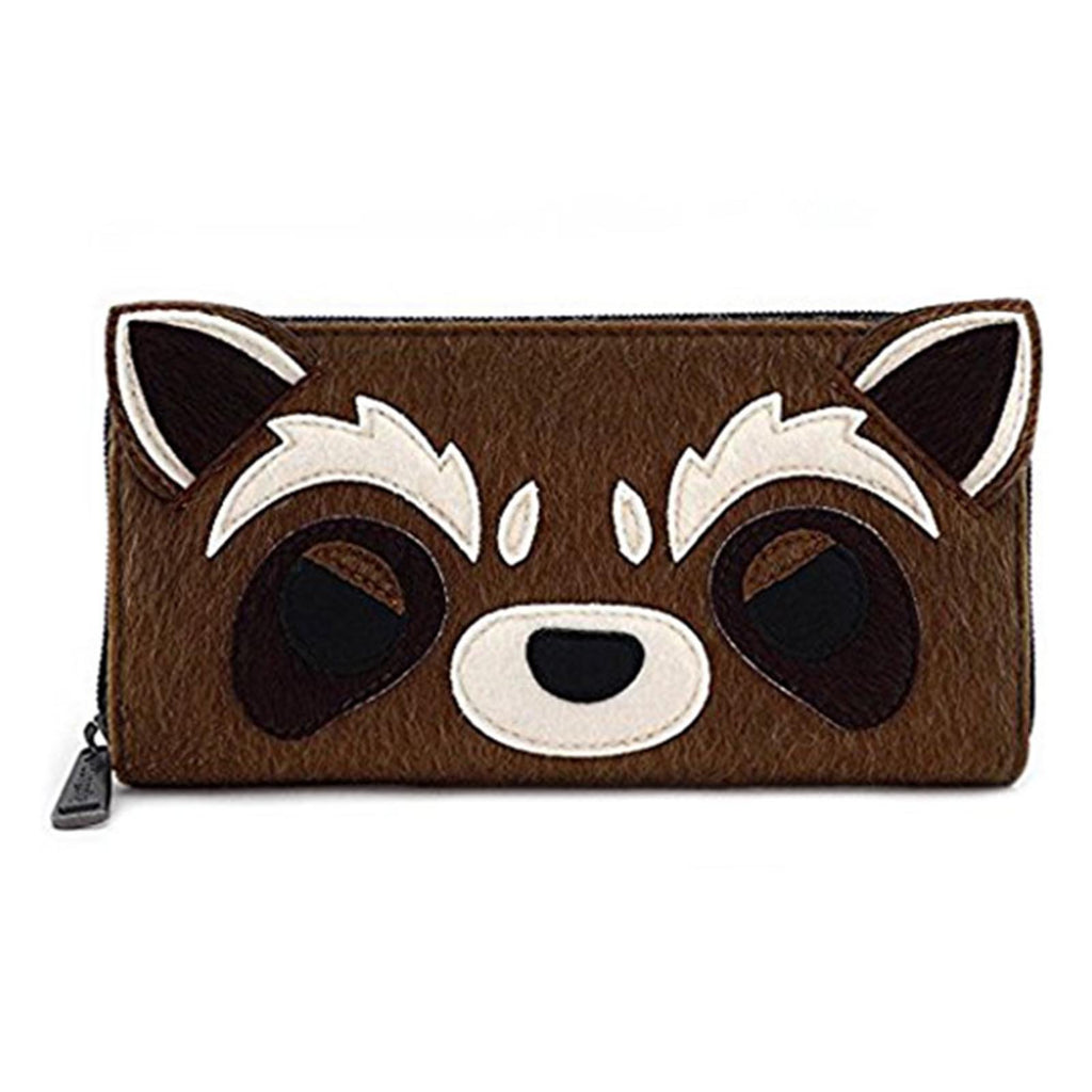 Loungefly Guardians Of The Galaxy Rocket Face Zip Around Wallet