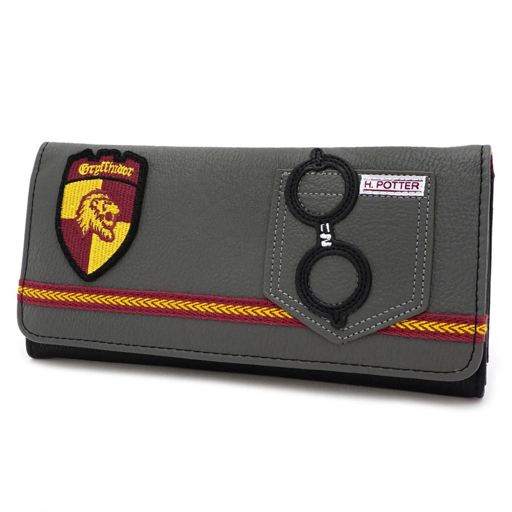 Loungefly Harry Potter Gryffindor Red Yellow Tri-Fold Flap Wallet