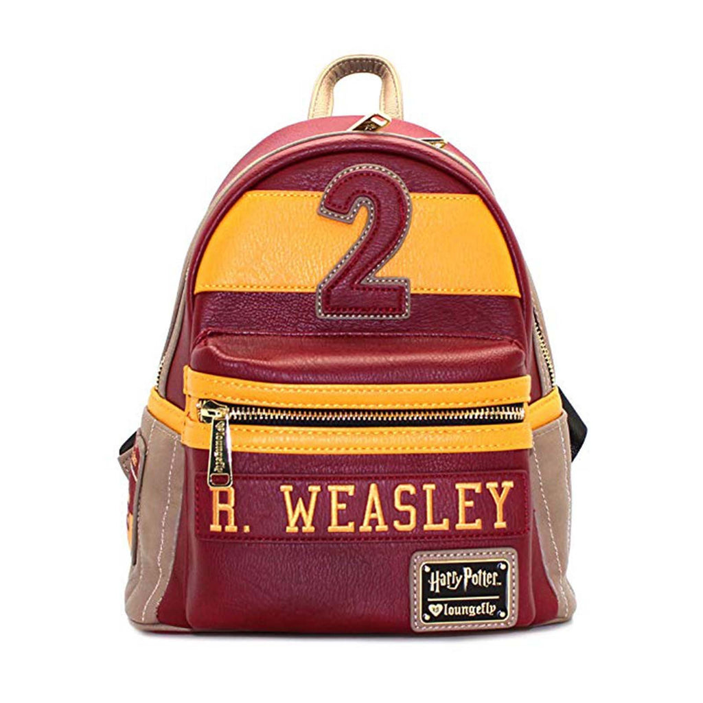 Loungefly Harry Potter Ron Weasley Red Brown Mini Backpack