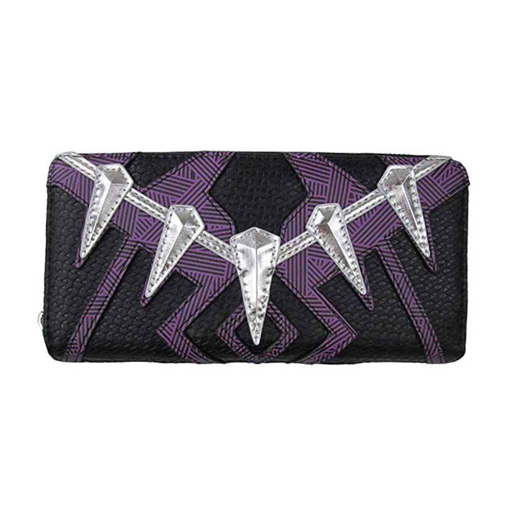 Loungefly Marvel Black Panther Purple Black Zip Around Wallet