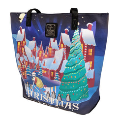 Purses - Loungefly Nightmare Before Christmas Halloween Xmas Town Tote Bag