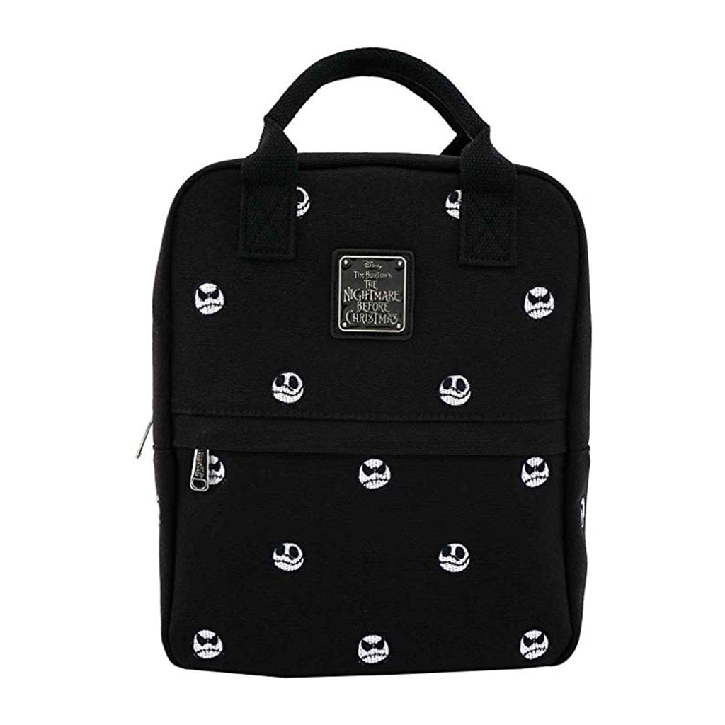 Loungefly Nightmare Before Christmas Jack Heads Canvas Embroidered Backpack