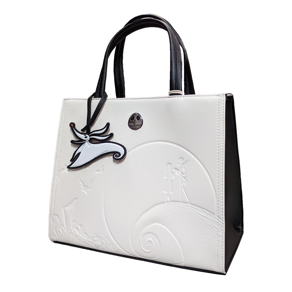Loungefly Nightmare Before Christmas White Debossed Satchel Purse