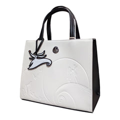 Purses - Loungefly Nightmare Before Christmas White Debossed Satchel Purse