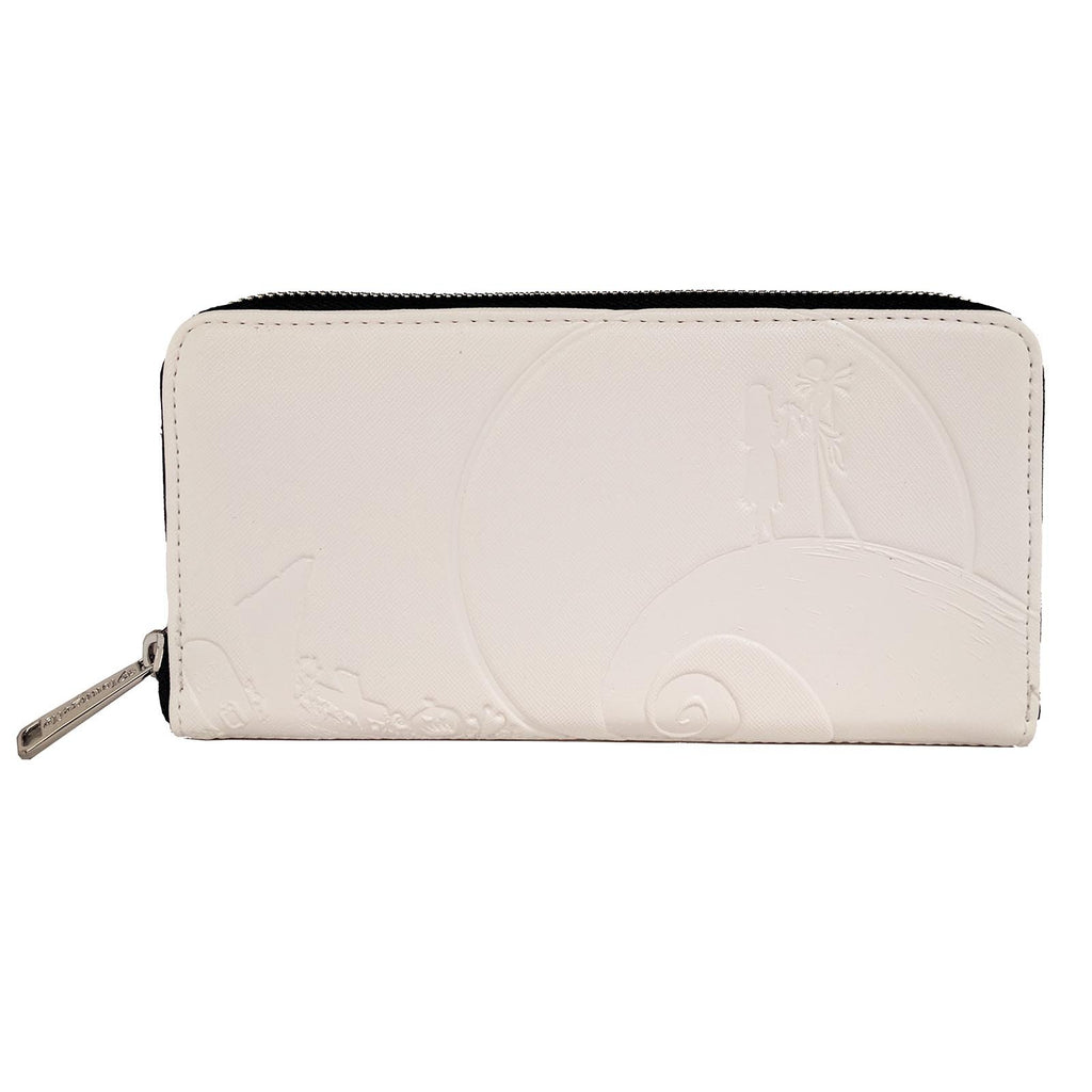 Wallets - Loungefly Nightmare Before Christmas White Debossed Zip Around Wallet