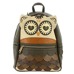 Purses - Loungefly Owl Brown Min Backpack