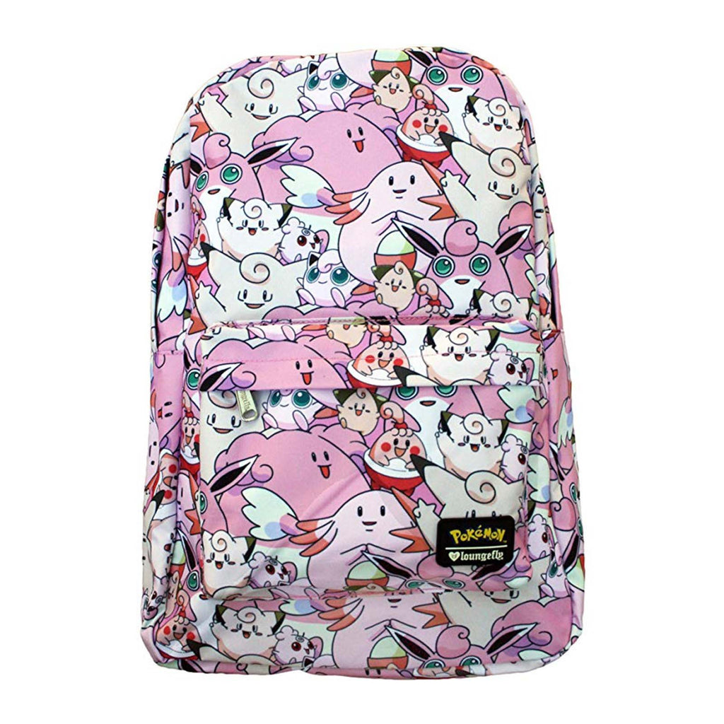 Purses - Loungefly Pokemon Fairy Type Pink All Over Print Backpack