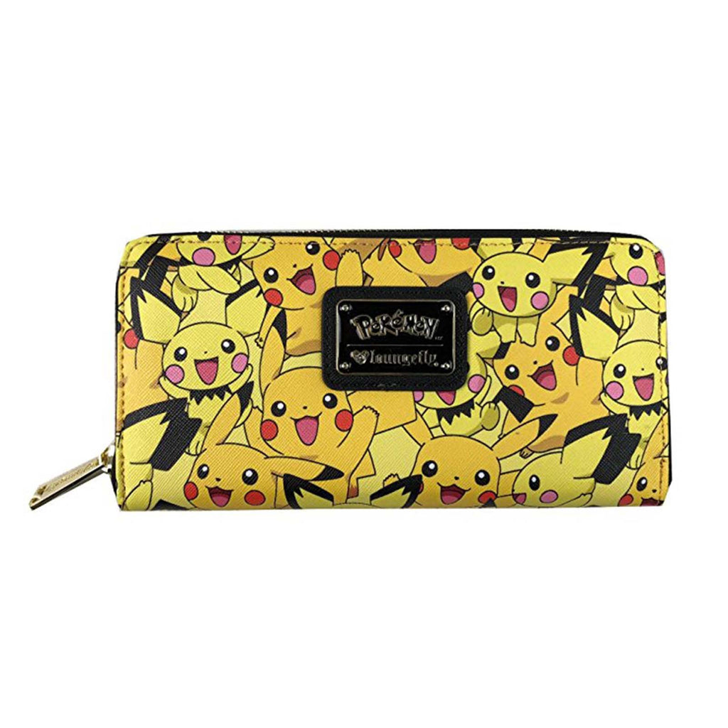 Loungefly Pokemon Pikachu All Over Print Zip Around Wallet