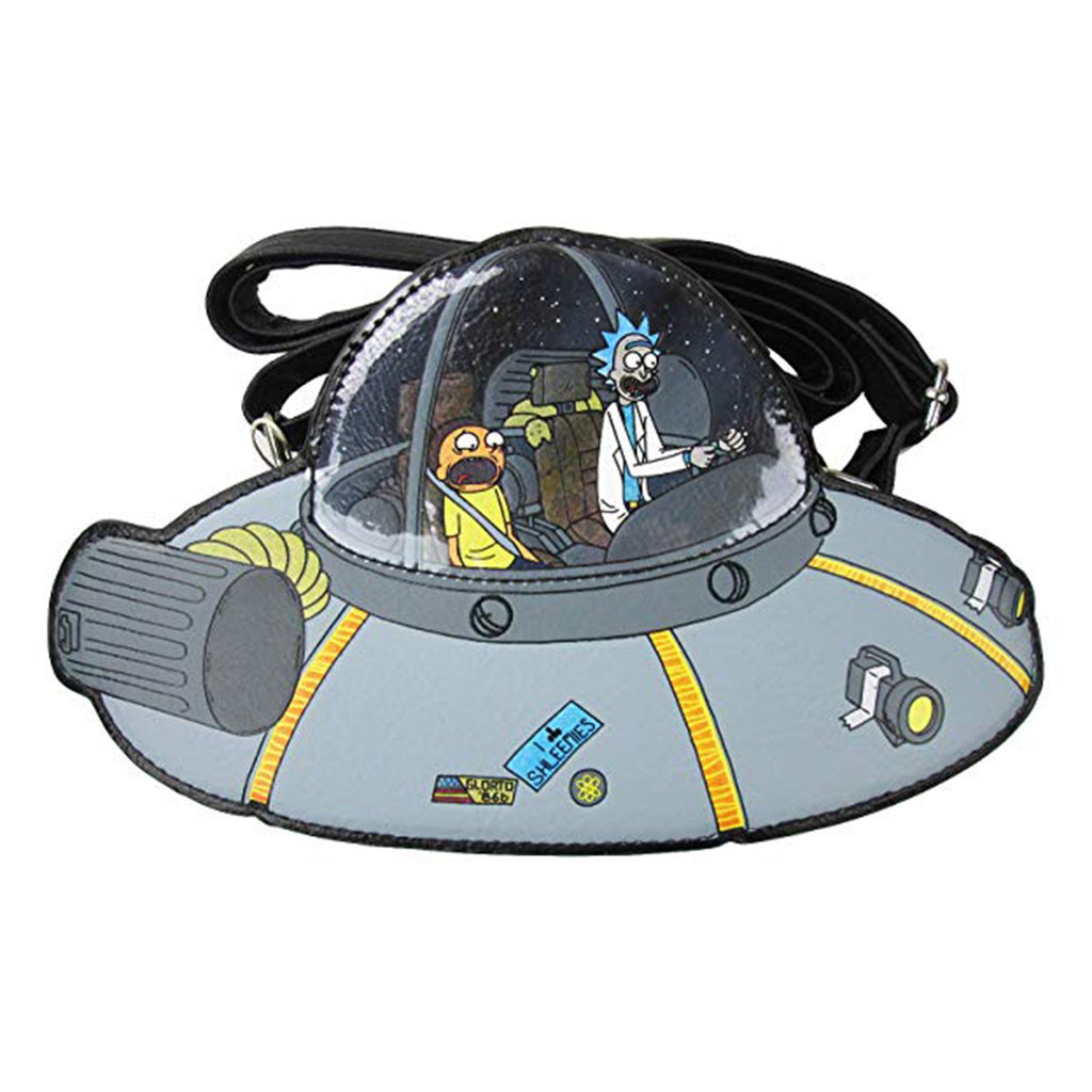 Loungefly Rick And Morty Spaceship Crossbody Bag