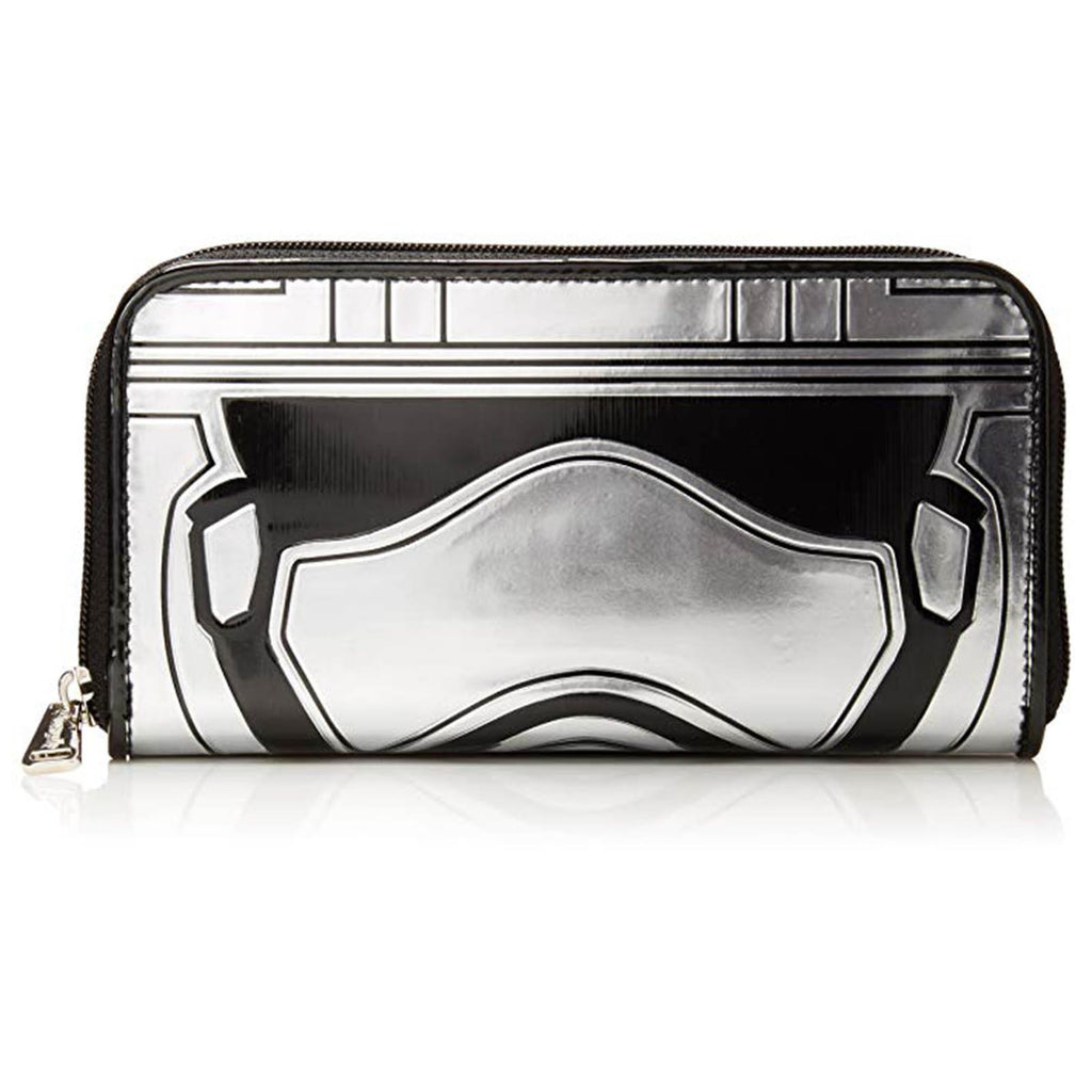 Loungefly Star Wars Captain Phasma Silver Metallic Zip Around Wallet